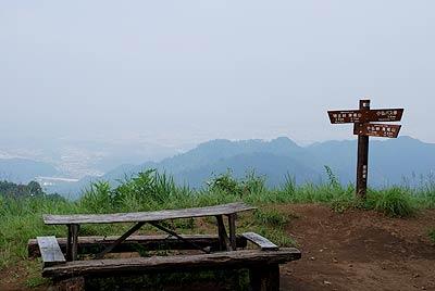 景信山頂からの眺め