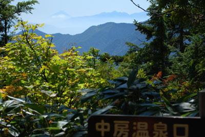 富士見ベンチからの富士山