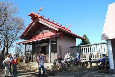 頂上の阿夫利神社