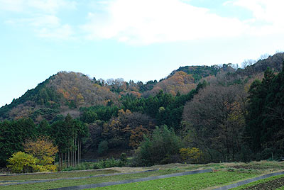 バス停への道から里山の風景